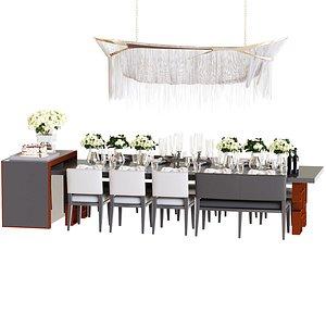 3D tableware table set