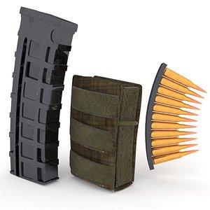 3D magazine leather pouch