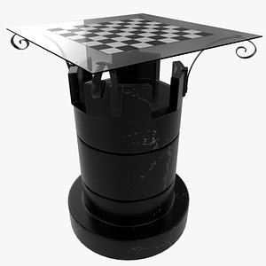 3D Marble Chess Table model