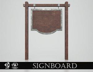 3D Medieval Signboard v4