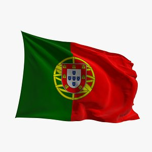 Realistic Animated Flag - Microtexture Rigged - Put your own texture - Def Portugal 3D model