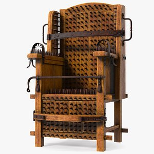 3D Medieval Torture Chair with Spikes model