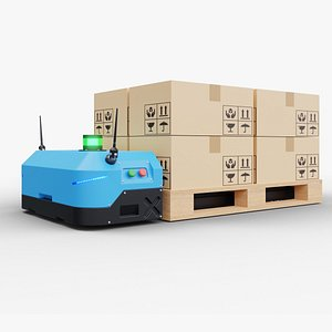 Pallet lifter agv 3D model
