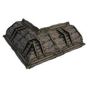 Pyramid Temple Wall 01 10 3D model