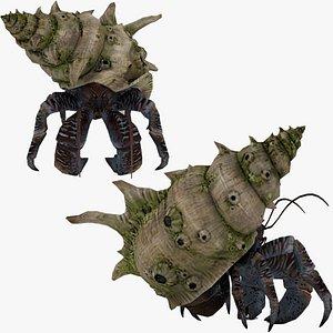 3D Tasmanian Giant Crab Rigged for Cinema 4D 3D
