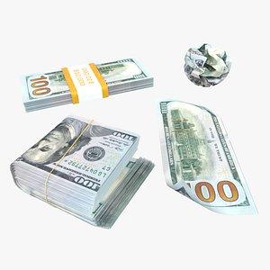 bills bank note 3D model