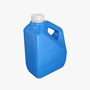 Plastic container blue 03 3D model