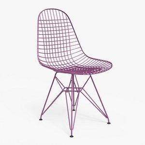 Wire Chair DKR Violet - PBR 3D model