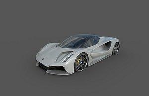 Low Poly Car - Lotus Evija 2020 3D model