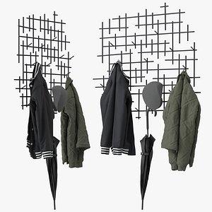 3D Marlow coat rack model