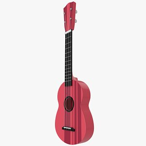 kid classical mini guitar 3D model