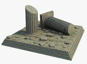 ruin column 3D model