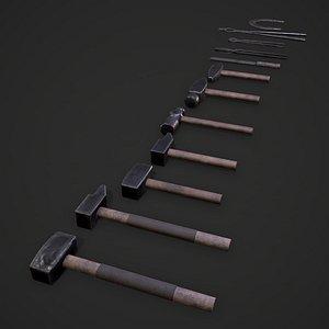 Blacksmith Tools 3D model