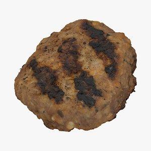 grilled pork burger patty model