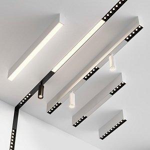 rafter spotlights lighting 3D model