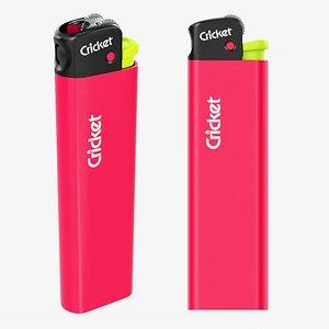 3D Cricket Flint pocket lighter 02 Fluo