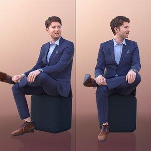 10114 John Sitting Business Man Talking 3D model