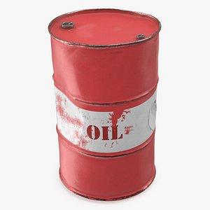 rusty crude oil barrel 3D model