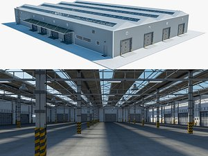 warehouse logistic 3 interior exterior model