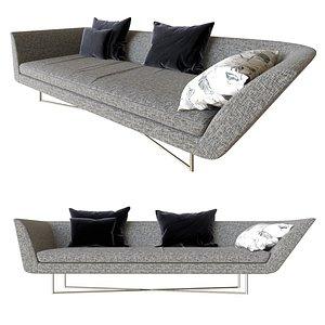 sofa little wing 3D model