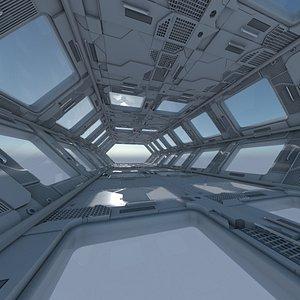 sci-fi interior model
