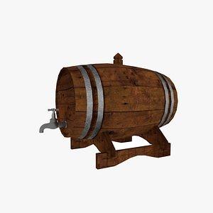 3D Whiskey Barrel model