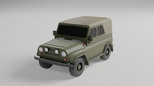 UAZ low poly model 3D