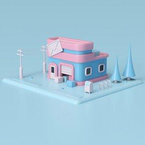 3D Post Office 02 model