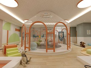 3D Kindergarten, Kindergarten, Classroom, Early Education Center, Nursery, Toy, Multimedia Room, Activi model