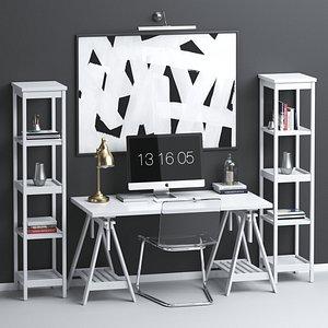 IKEA workplace set 3D model