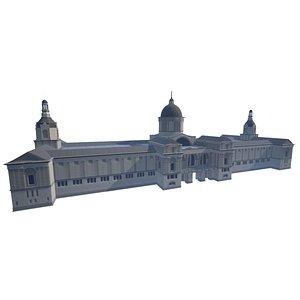 3D mnac art museum barcelona model