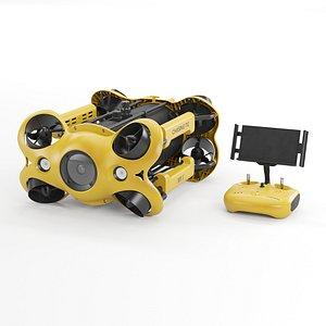 chasing drone underwater model