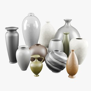 3D Decorative ceramic vases