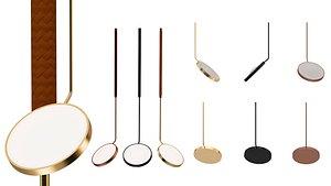 Spoon Penta Hanging Lamp 3D model