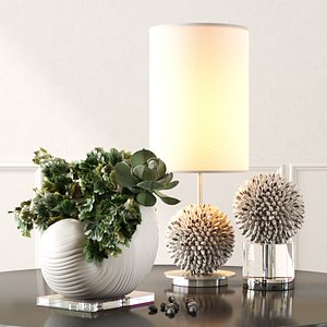 3D model uttermost set cascara table lamp