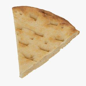 pita bread piece 01 3D model