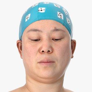 3D Mei Human Head Eyes Turn Down AU61 Clean Scan
