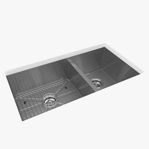 3D kohler kitchen sink vault