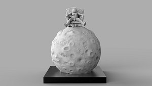3D space moon