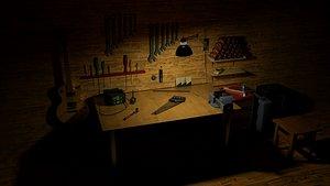 3D lamp tools room hq