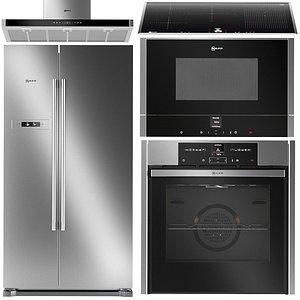 3D Set of kitchen appliances Neff 4 model