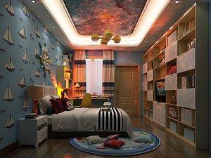 3D model Bedroom Postmodern Bedroom Master Bedroom Simplified Bedroom Deluxe Bedroom European Bedroom Childre