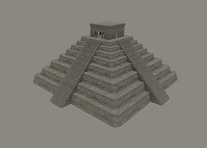 3D mayan temple