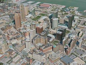3D model cleveland city