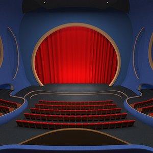 3D model Modern Theater Interior