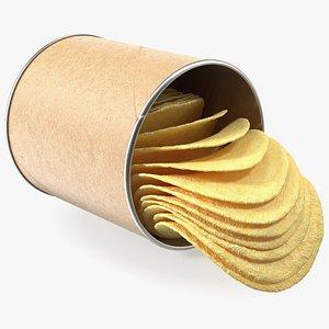3D Small Potato Chips Paper Tube model