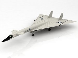 3D model XB-70 Valkyrie Supersonic US Aircraft
