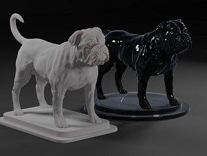 3D english bulldogs