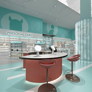 3D model cosmetic store