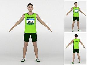 Athlete Runner 05 3D